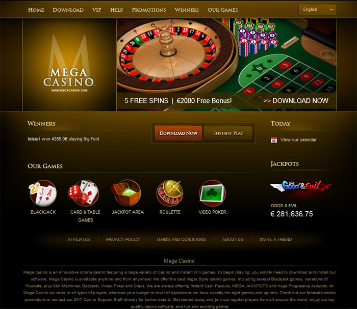 mega casino instant play